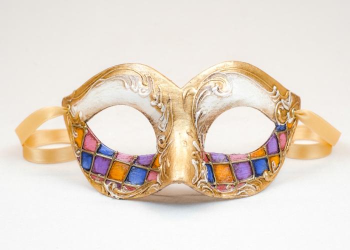 Maschera Colombina Rococo 3