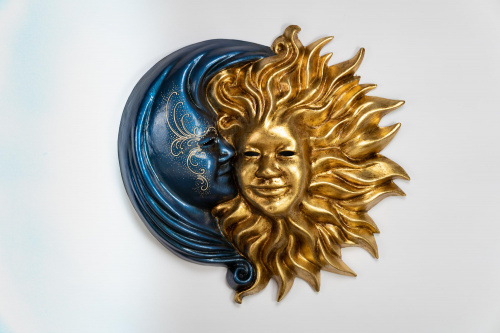 Sun and Moon Mask Blue and Gold