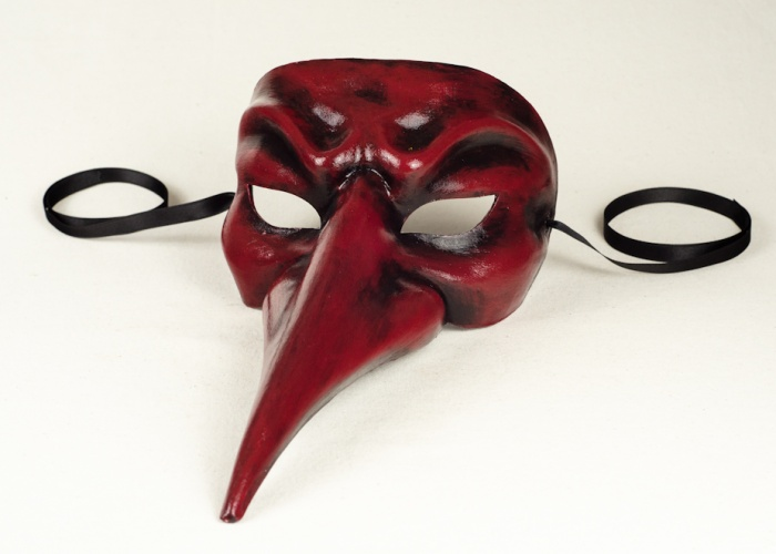 buy long nose mask red and black