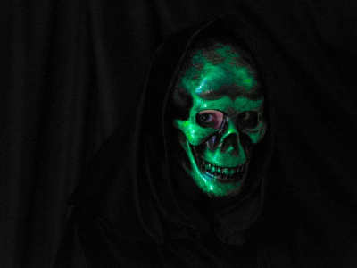 Laughing Skull Mask Green