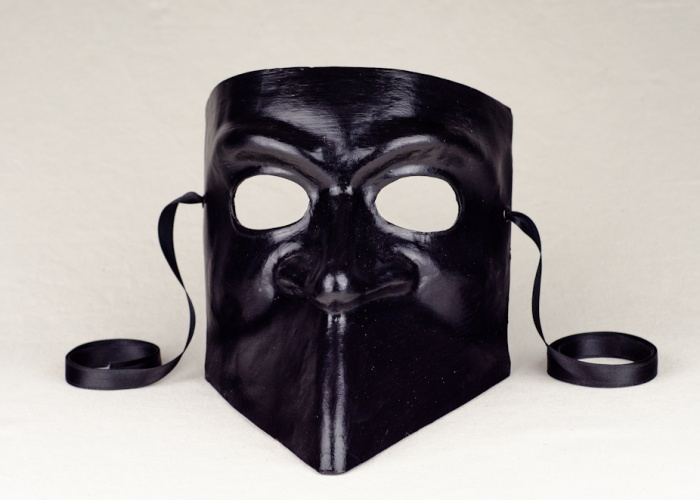 bauta mask black