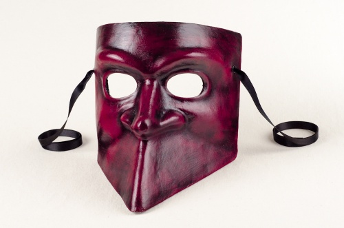 Bauta Mask Red and Black