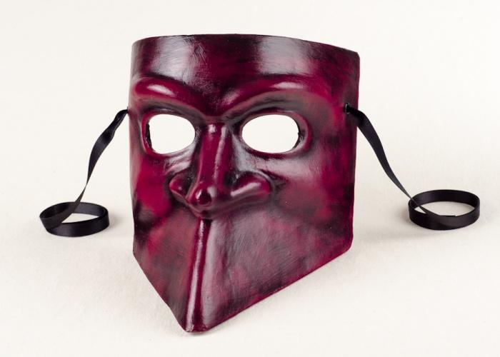 masque bauta rouge et noir