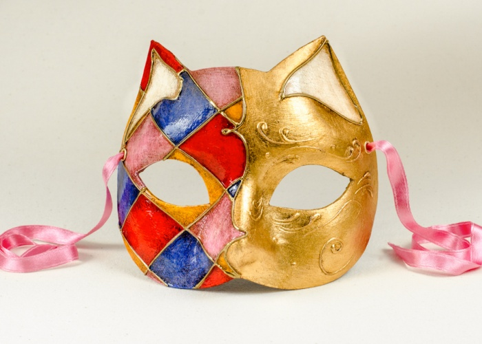 cat mask rosy small 1