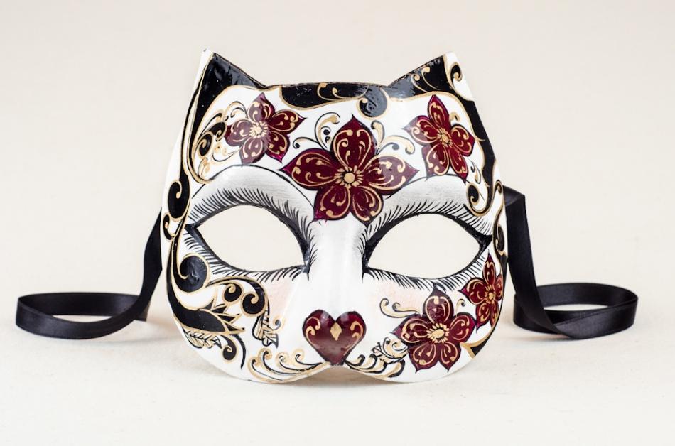 Ca 39 macana maschera da gatto - Pagina colorazione maschera gatto ...