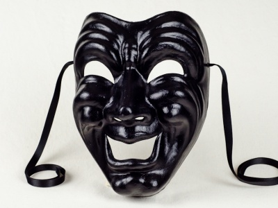 Comedy Face Mask Black