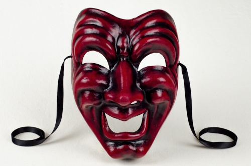 Comedy Face Mask Red and Black