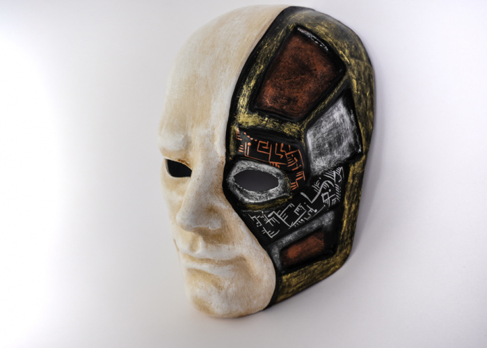 Half Robotic Face