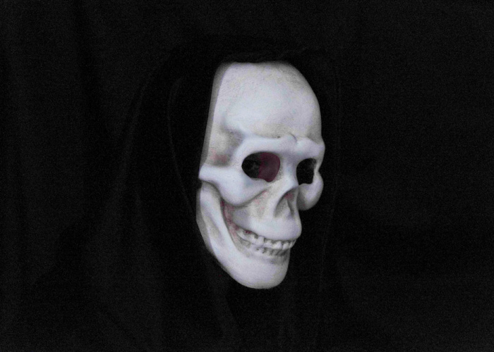 Laughing Skull Mask - Bone White