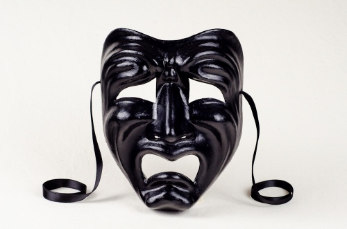 Tragedy Face Mask Black