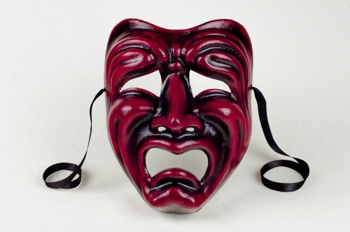 Tragedy Face Mask Red and Black