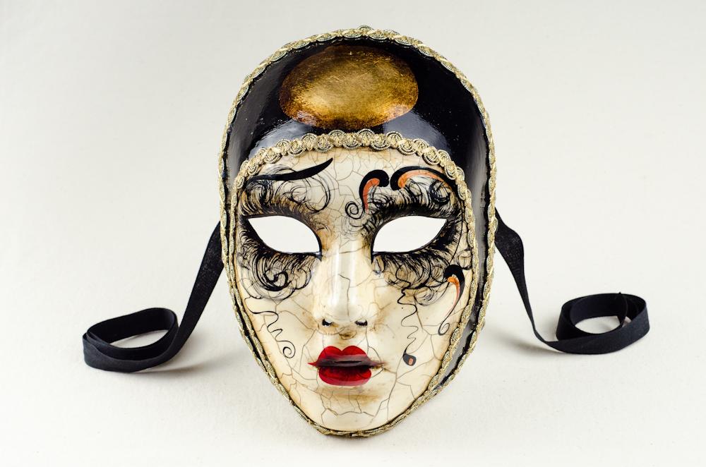 profiter de prix discount gamme exclusive la plus récente technologie vente masques vénitiens volto Pierrot craquelé Betty 2